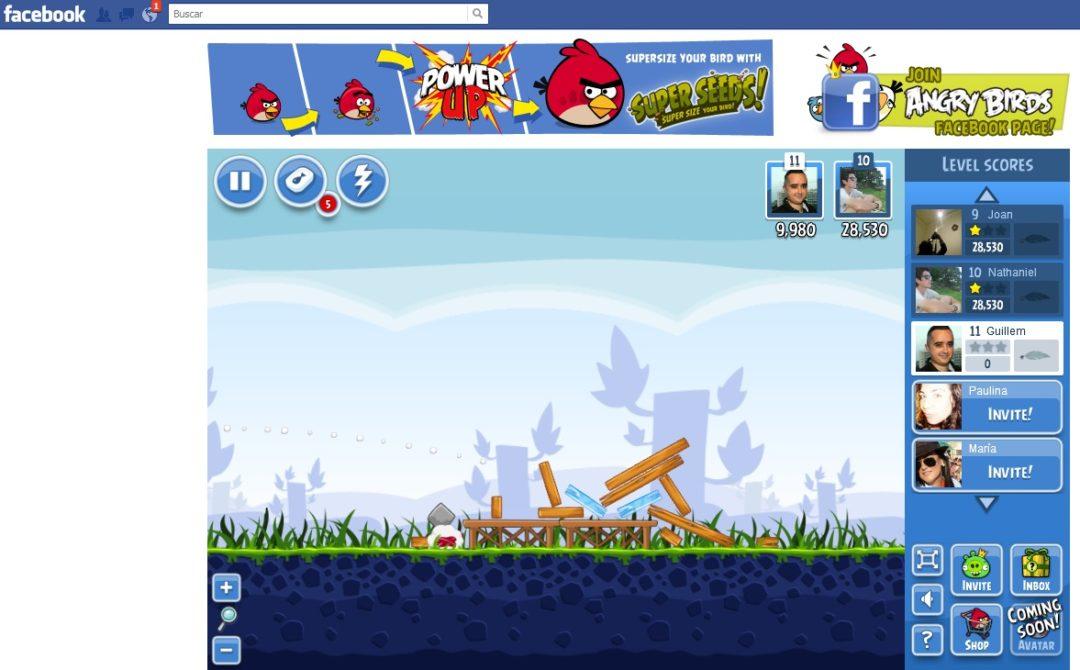 Angry Birds para Facebook 1