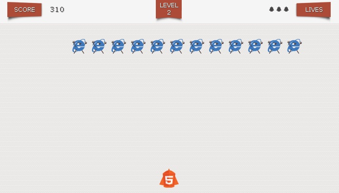 Elimina Internet Explorer a lo Space Invaders 1