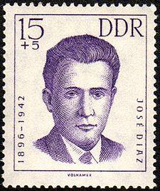 """""""Extractos del discurso pronunciado por José Díaz, Secretario General del PCE, en el Monumental Cinema de Madrid, el 2 de junio de 1935""""   Jose-diaz-ramos"""