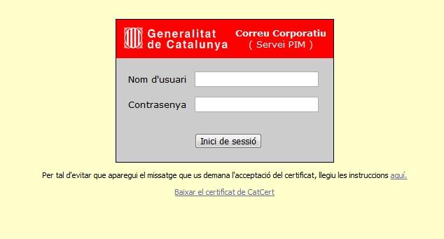 pim.gencat.cat Correu corporatiu de la Generalitat de Catalunya 1