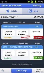 Estado del vuelo - Aplicación Android 2