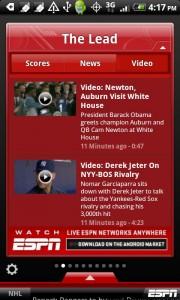 ESPN ScoreCenter para Android 1
