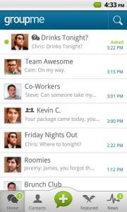 GroupMe es la forma más facil de conversar y mantenerte en contacto con tus amigos 1