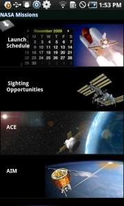 La aplicación oficial de la NASA para Android 1