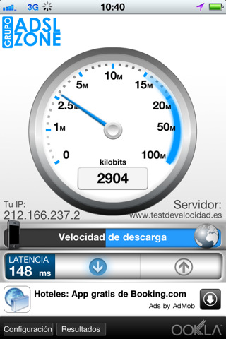 Test de Velocidad para el iPhone 1