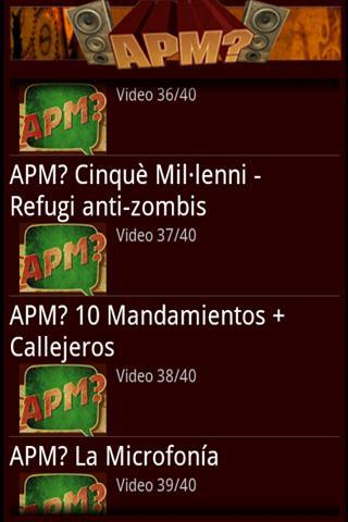 Vídeos APM? para Android 1
